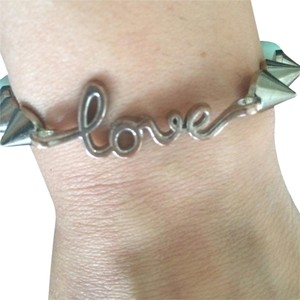 Electric Picks Jewelry Love bracelet in silver with stud hardware