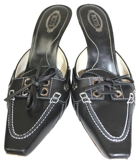 Tod's Black Sandals