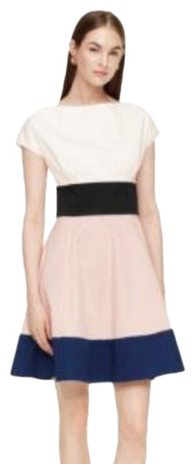 Item - Pink White and Blue Fiorella Short Work/Office Dress Size 0 (XS)