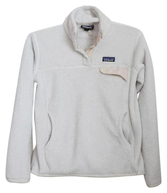 Item - White Re-tool Snap-t Pullover Fleece Jacket Activewear Size 8 (M)