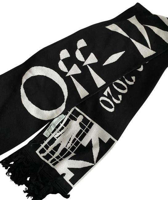 Off-White™ Black and White Scarf/Wrap Off-White™ Black and White Scarf/Wrap Image 1