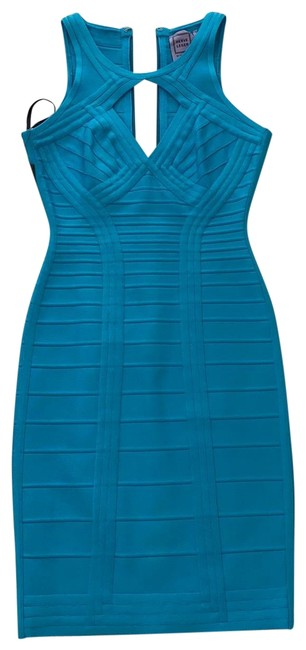 Item - Blue Abbeygail Short Cocktail Dress Size 4 (S)