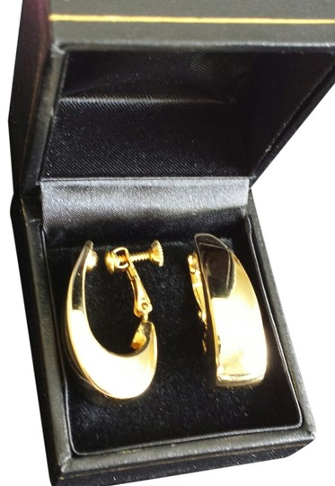Other Vintage Napier Mid Century Modern Goldtone Hoop Earrings