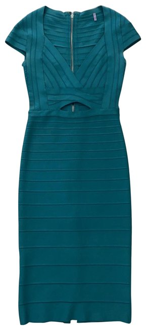 Item - Green Cara Mid-length Cocktail Dress Size 2 (XS)