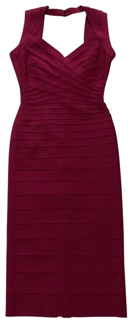 Item - Burgundy Sarai Mid-length Cocktail Dress Size 4 (S)
