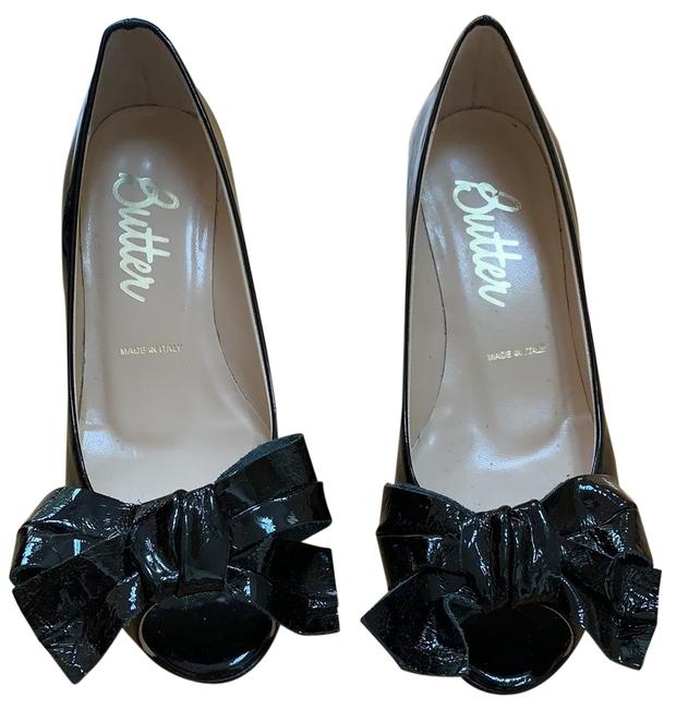 Item - Black Kitten Heel Patent Leather Pumps Size US 6 Regular (M, B)