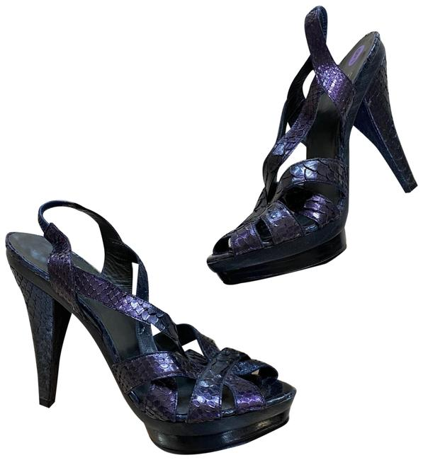 Item - Purple Ombré Python Skin Heels Pumps Size US 8 Regular (M, B)