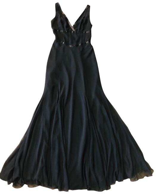 Item - Black Abs Evening Chiffons Gown Long Formal Dress Size 2 (XS)