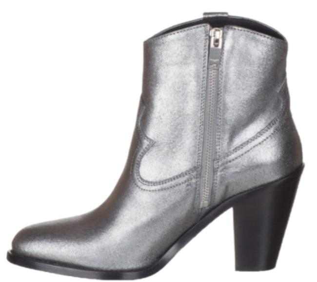 Item - Metallic Silver Suede Ankle Boots/Booties Size US 8 Regular (M, B)