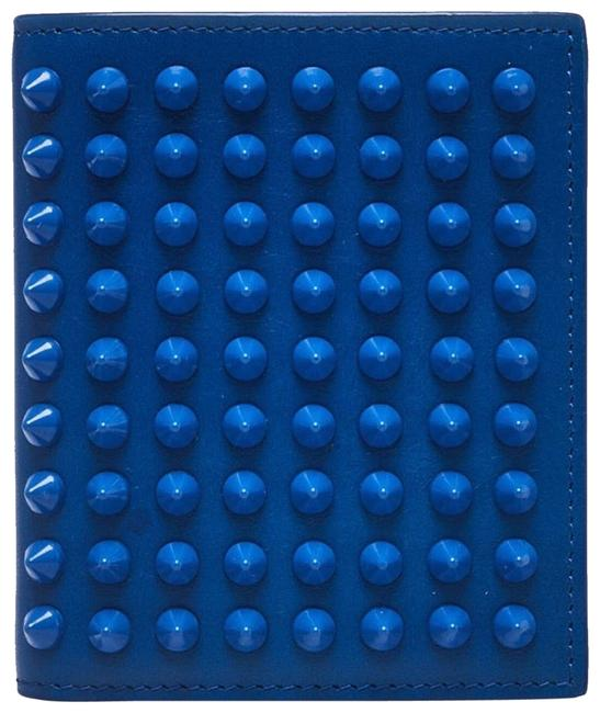 Item - Blue Leather and Spikes Paros Wallet