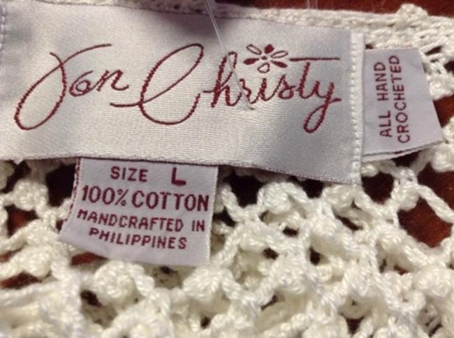 Jon Christy Vintage Jon Christy Boho Chic Hand Crocheted Sweater/Swim Cover Size L (One Size Fits most for swim cover)