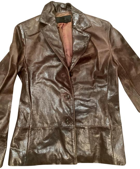 Item - Weathered Brown Leather Woman Jacket Size 4 (S)