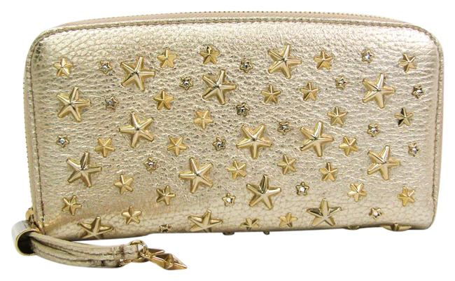 Item - Champagne Gold Long Filipa Crystal Star Studs Women's Leather (Bi-fold) Wallet