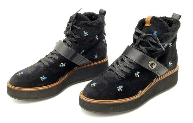 Item - Black G1419 Womens Urban Hiker Suede Ankle Hiking Floral Boots/Booties Size US 9 Regular (M, B)