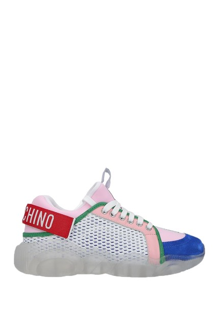 Moschino Multicolor Teddy Mesh Sneakers Size EU 39 (Approx. US 9) Regular (M, B) Moschino Multicolor Teddy Mesh Sneakers Size EU 39 (Approx. US 9) Regular (M, B) Image 1