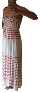 Coral And Cream Maxi Dress by Jessica Simpson
