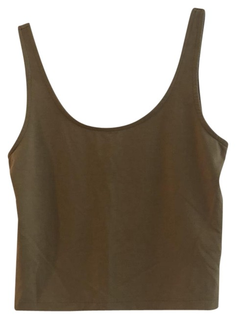 Forever 21 Olive Cropped Tank Top/Cami Size 8 (M) Forever 21 Olive Cropped Tank Top/Cami Size 8 (M) Image 1