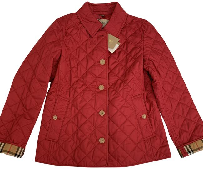 Item - Crimson Pink Military Ashurst Quilted Jacket Size 12 (L)