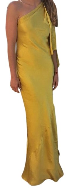 Item - Gold One Shoulder Gown Long Formal Dress Size 2 (XS)