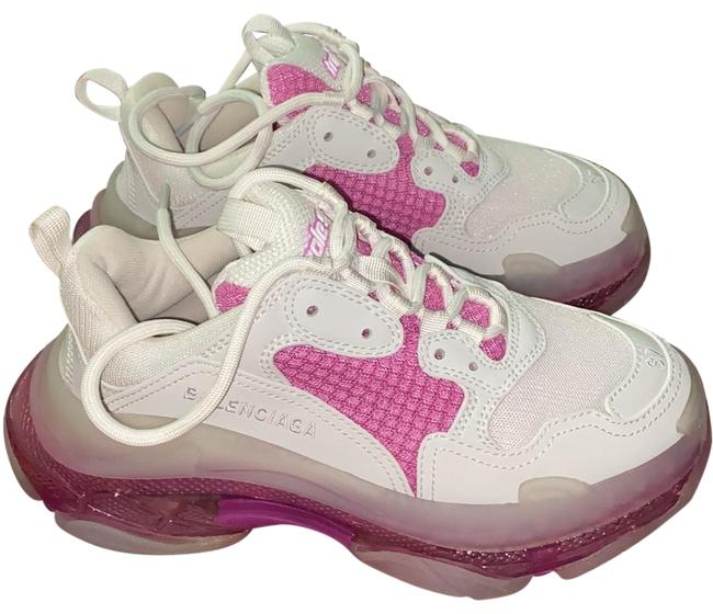 Item - Pink White and Clear Triple S Sneakers Size EU 37 (Approx. US 7) Regular (M, B)