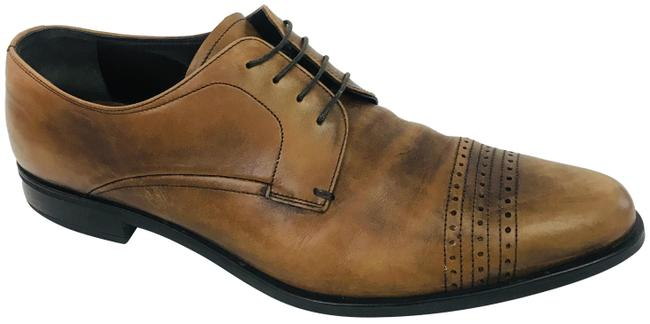 Item - Brown Men Derby Lace Up Formal Shoes Size US 9 Extra Wide (Ww, Ee)