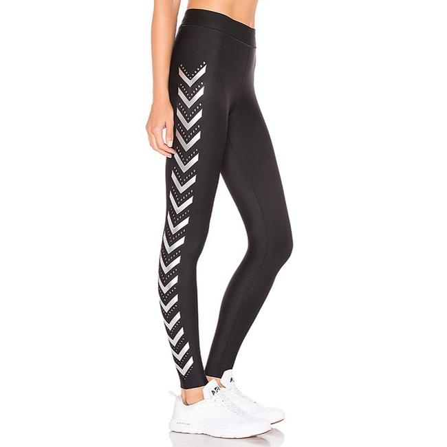 Item - Black and Silver Ultra High Chevron Pixelate Activewear Bottoms Size 0 (XS)