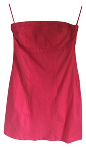 Gap short dress Pink Strapless A-line on Tradesy