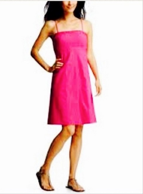 Gap short dress Pink Sundress Strapless A-line on Tradesy