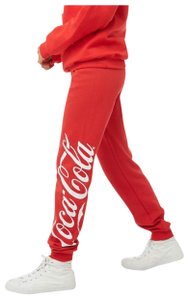 Coca-Cola Relaxed Pants red