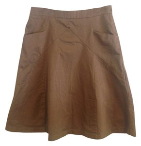 Express Pockets A-line Skirt Brown