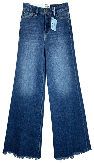 Item - Blue Medium Wash Maggie May Le Palazzao Trouser/Wide Leg Jeans Size 24 (0, XS)