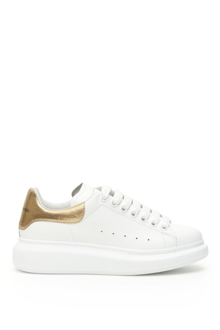 Item - White/Gold Sn Oversized Sneakers Size EU 37 (Approx. US 7) Regular (M, B)