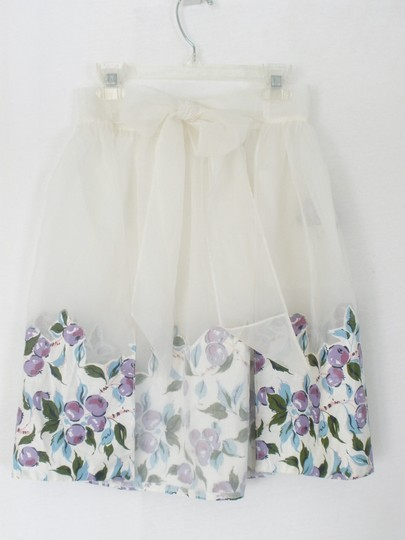 Other Vintage 50's Hostess Half Apron Sheer with Purple Fruit
