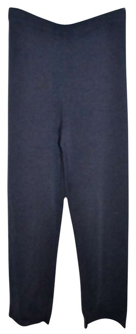 Eileen Fisher Wool Wide Leg Pants Navy Blue