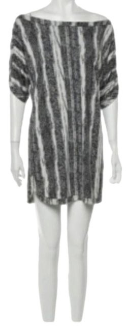 Item - Black White Silk Or Tunic Short Casual Dress Size 4 (S)