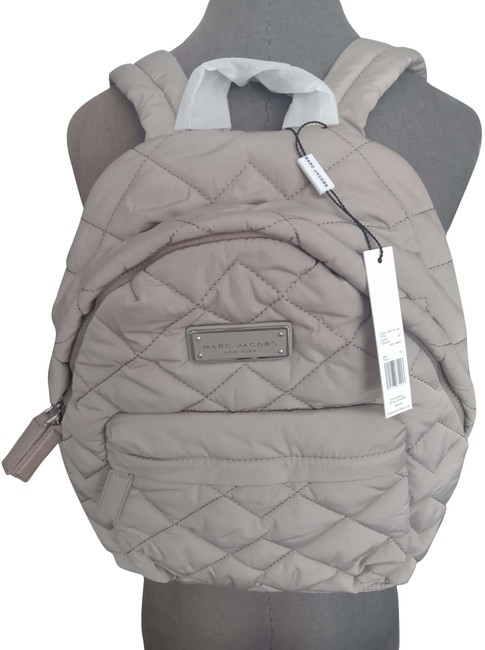 Item - Large Quilted Light Smoke Beige Nylon Backpack