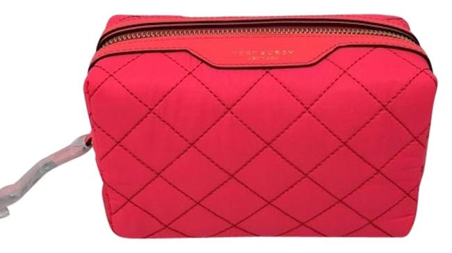 Item - Hot Pink Perry Small Quilted Nylon Case Cosmetic Bag