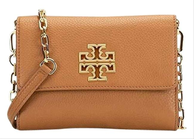 Item - Britten Chain Wallet Brown Lambskin Leather Cross Body Bag