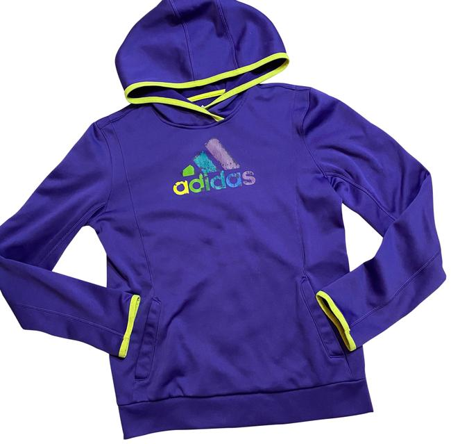 adidas Purple Climawarm Hoodie Activewear Top Size 8 (M) adidas Purple Climawarm Hoodie Activewear Top Size 8 (M) Image 1