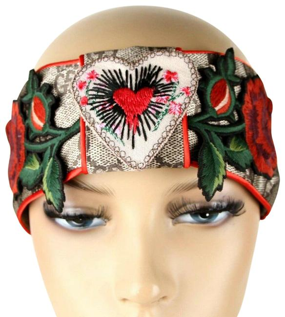 Item - Multi-color Headband with Heart and Roses Patches China Exclusive M 462057 9667 Hair Accessory