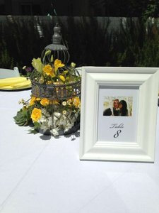 White Picture Frames For Table Numbers 5x7 (10)