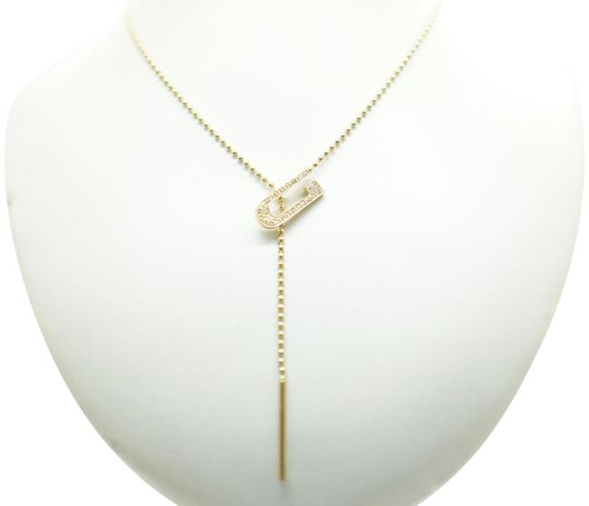 Item - Yellow Gold Vintage 18k and Diamond Pendant Beads Necklace