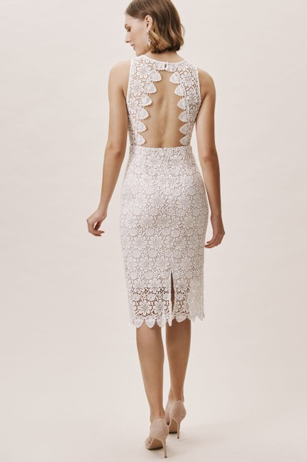 Item - Ivory Nude Lace Belden Casual Wedding Dress Size 4 (S)