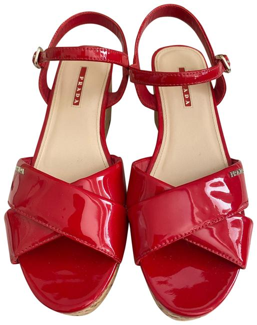 Item - Patent Red Calzature Donna Wedges Size US 10.5 Regular (M, B)