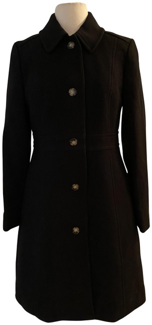 Item - Black Classic Lady Day In Italian Double-cloth Wool. Coat Size 6 (S)