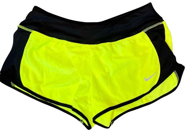 "Item - Neon Yellow 3"" Dri Fit Crew Running Activewear Bottoms Size 4 (S)"