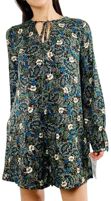 Item - Green Floral Long Sleeve Romper/Jumpsuit