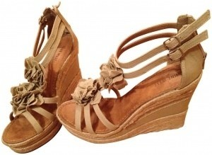 Nine West Casual Sandal With Floral Detail On Top Nude, natural Wedges