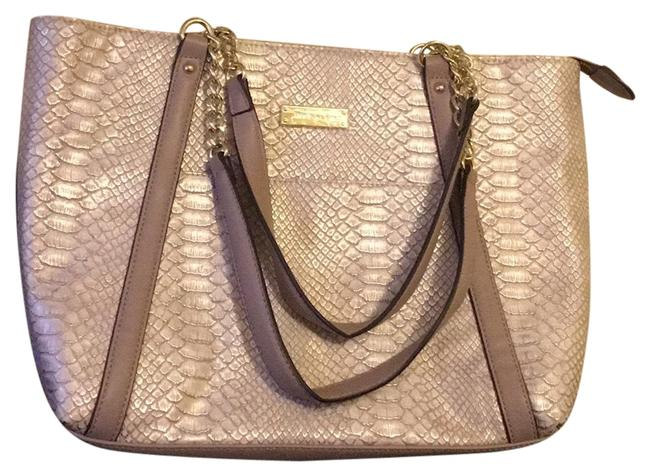Item - Chain Concept Light Gold/Taupe Man Made Tote