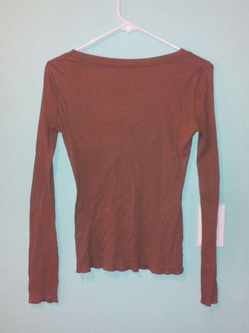 Social Occasions Ribbed T Shirt Brown